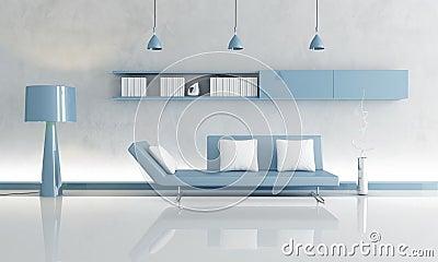 Graues und blaues wohnzimmer stockfoto bild 12657800 - Blaues wohnzimmer ...