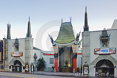 Grauman s Chinese Theater in Hollywood Editorial Photography