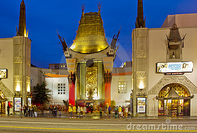 Grauman s Chinese Theater at Night Editorial Image
