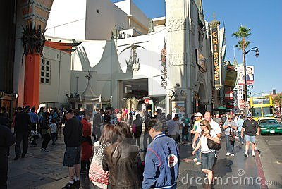 The Grauman s Chinese Theatre in Hollywood Editorial Stock Image