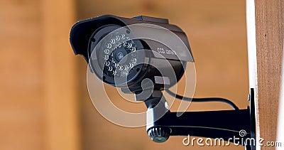 Gravação da câmara de vigilância da segurança video estoque