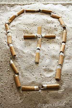 Grave of cigarettes