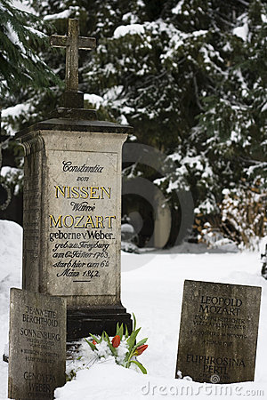 Grave of the family Mozart - Salzburg, Austria Editorial Stock Image
