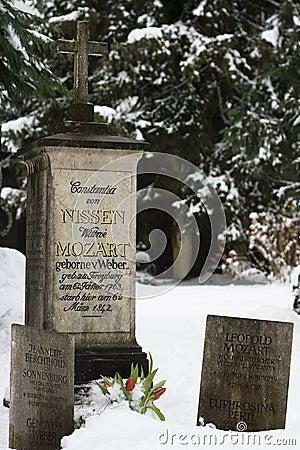 Grave of the family Mozart - Salzburg, Austria Editorial Stock Image