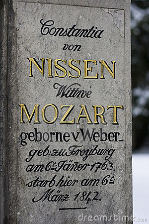 Grave of the family Mozart - Salzburg, Austria Editorial Photo