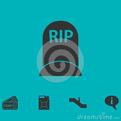 Grave icon flat Vector Illustration