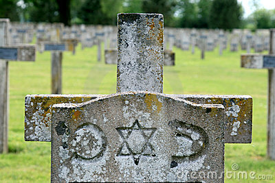 Grave of a jewish soldier, France