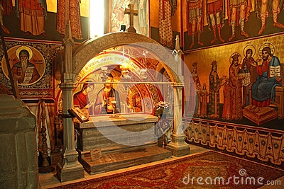 Grave of Stephen the Great in Putna monastery