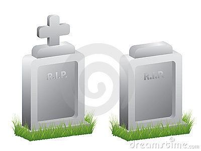 Grave stone - vector illustration