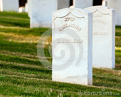 Grave of unknown U.S. soldier