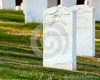 Grave of unknown U.S. soldier