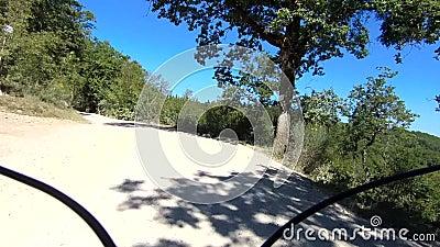 Gravel bike in tuscany italy stock video