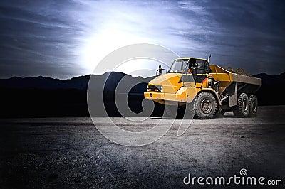 Gravel dump truck