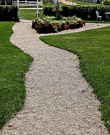 Gravel path in park or garden