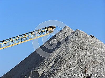 Gravel pile
