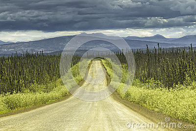 Gravel road in Alaska