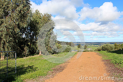 Gravel road in Darling Ranges Western Australia near Crooked Brook.