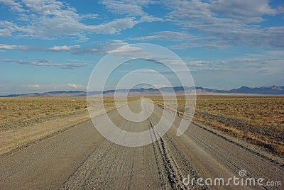 Gravel road in the wilderness