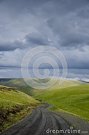 Free Gravel Rural Road Beneath Stormy Sky Royalty Free Stock Photo - 19800915