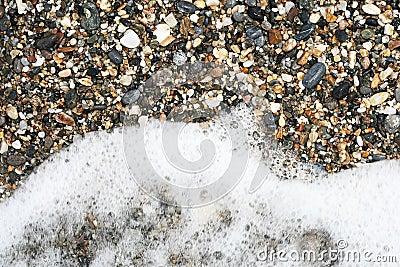Gravel and sea foam
