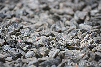 Gravel Textured Bokeh Background