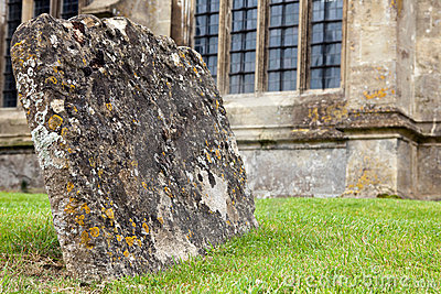 Graves with lichen