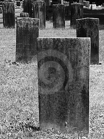 Gravestone: blank rectangle
