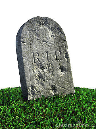 Gravestone on the grass
