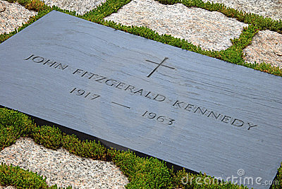 Gravestone of JFK on Arlington National Cemetery Editorial Photography