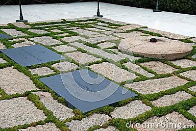 Gravestone of JFK on Arlington National Cemetery Editorial Image