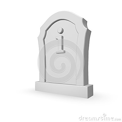Gravestone with letter i