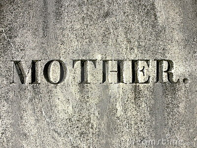 Gravestone: mother