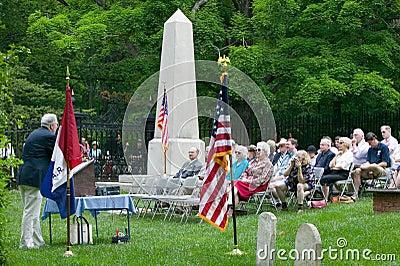 Gravestone of Thomas Jefferson Editorial Stock Image