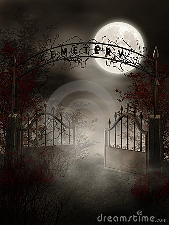 Free Graveyard Gate Royalty Free Stock Photo - 17260115