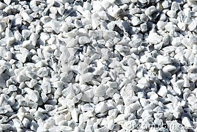 Gravier Blanc Photo libre de droits - Image: 5071905