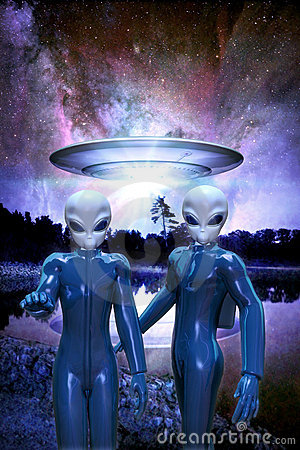 Free Gray Aliens Royalty Free Stock Photo - 15825175