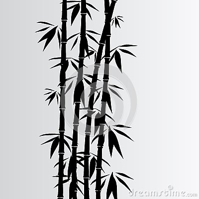 Gray bamboo background