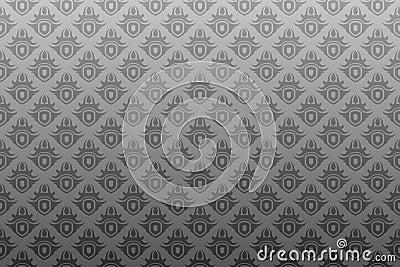 Gray black antique seamless wallpaper