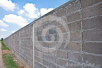 Gray block wall
