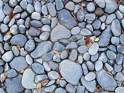 Gray blue river pebbles background