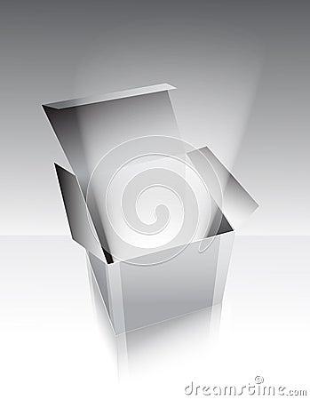 Gray box with light