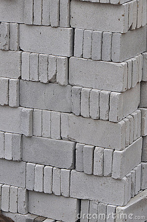 gray bricks for construction