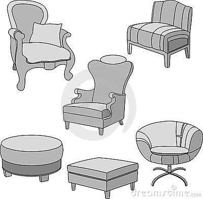 Gray chairs for the home