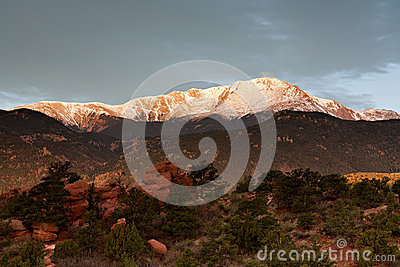 Gray Clouds Above Pikes Peak