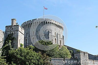Gray Concrete Castle With Flag On Top Under Blue Sky Free Public Domain Cc0 Image