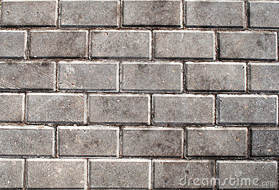 Gray concrete tiles