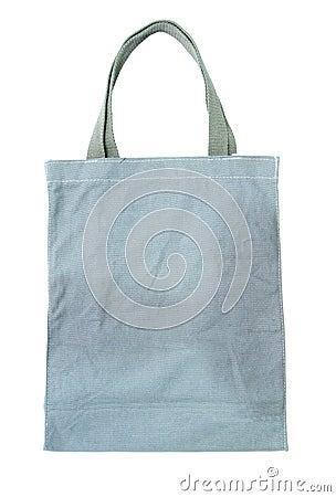 Gray cotton bag