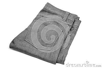 Gray denim trousers