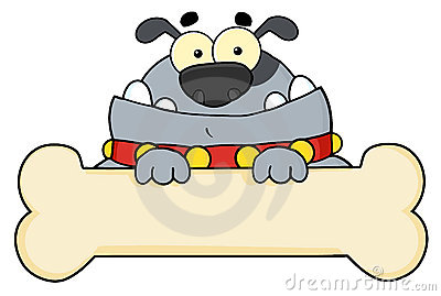 Gray dog cartoon character
