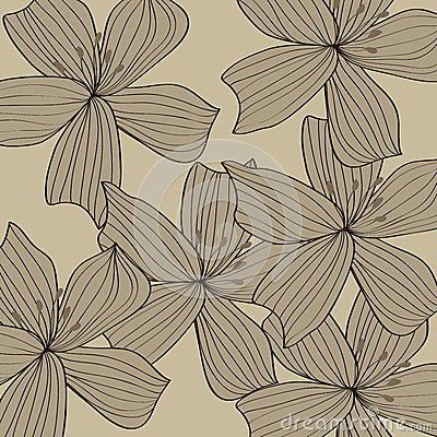 Gray flower pattern background